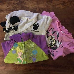 Disney Girls 4t SWEATSHIRT Lot